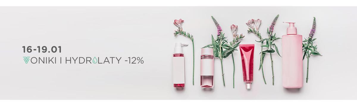 Toniki i hydrolaty taniej o 12% !