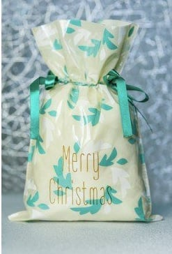 Worek prezentowy świąteczny - Listki