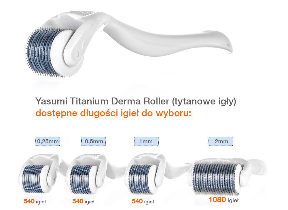 Derma Roller do mezoterapii mikroigłowej
