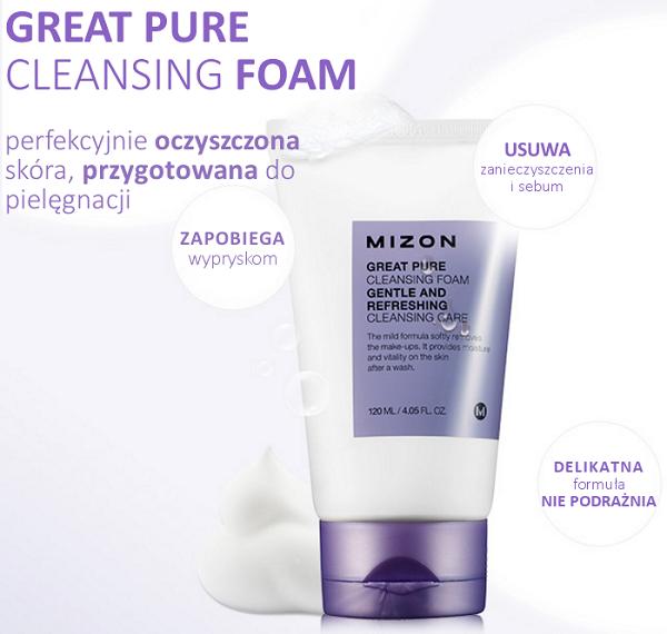 Mizon Great Pure Cleansing Foam