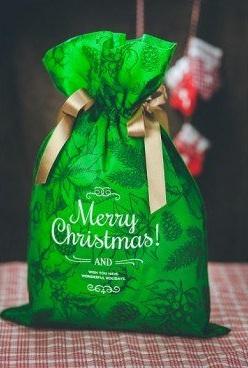 Worek prezentowy - Świąteczne motywy